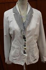 Desigual White Blazer Lined Jacket Coat Eur 44 Mex 34 S M