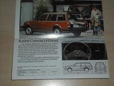 64563) Opel Ascona Rekord Kadett Diesel Prospekt 04/1982