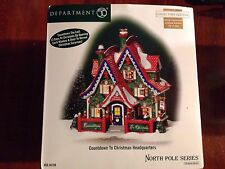 Dept 56 North Pole Series - Countdown To Christmas Headquarters - New - Limited