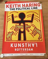 KEITH HARING - ROTTERDAM EXHIBITION 2015 - ORIGINAL POSTER - THE POLITICAL LINE