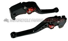 CNC Adjustable Shorty Brake Clutch Lever Black For Honda CBR 600 2007 - 2012