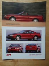 FORD MUSTANG COBRA 1996 sales brochure prospekt catalogue - SVT
