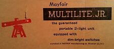 Mayfair Multilite Jr. Portable 2 Light Unit with Dim Bright Switches