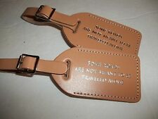 25 NATURAL COLOR genuine bonded  Leather, WEDDING  Luggage Tags   $2.15