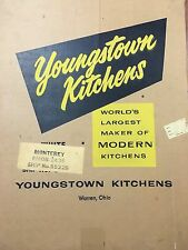 "RARE Youngstown Kitchens 26 X 36 Box Panel Ready To Frame Circa 1955 ""Monterey"""