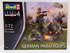 KIT REVELL 1:72 SOLDATINI GERMAN PARATROOPS WWII 44 FIGURE ART 02532