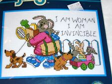 "Dimensions Jiffy Counted Cross Stitch Kit  INVINCIBLE WOMAN 5"" x 7"""