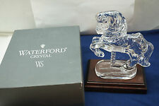 WATERFORD CRYSTAL CAROUSEL HORSE SCULPTURE FIGURINE SIGNED BOX SOCIETY PIECE