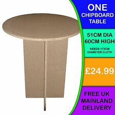 ONE New Round Chipboard Display Bedside Bedroom Hall Lounge Table Circular SU70