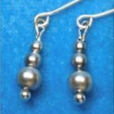Dreamz SILVER Graduated Pearl EARRINGS Barbie Silkstone Doll Jewelry