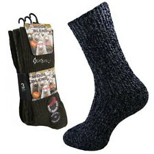 6 Pairs Mens Non Elastic Wool Blend Socks Shoe Size 6-11 Diabetic Chunky Boot