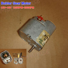 Small Micro German Buhler Gear Motor DC 12V-18V 130RPM-200RPM Low Speed Gearbox