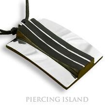 Amulett Anhänger Design Kette Halskette Holz Edelstahl PB214