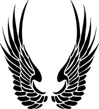 """Tribal Wings Vinyl Decal Sticker Truck Window- 6"""" Tall White Color"""