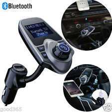 FM Transmitter Bluetooth Car Kit MP3 USB Charger Handsfree for iPhone Samsung S7