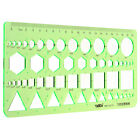 Plastic Circles Squares Hexagons Geometric Template Ruler Stencil Measuring Tool