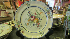 ancienne assiette  decorative nevers a identifier fleurs 19e signee