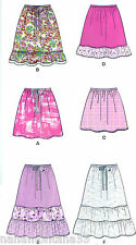 New Look 6031*6 Variations in 1*Gathered Tiered Boho Skirt Pattern*8-18*FF