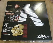 "Used Zildjian K0800 K Cymbal Box Set - 20"" Ride, 16""/18"" Crash & 14"" Hats"