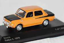 Simca 1000 Rally 2 1976 orange schwarz 1:43 Whitebox neu & OVP WB168