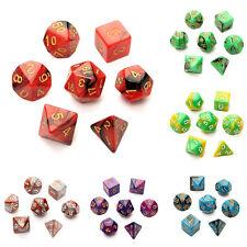 7 unidades dados de multiples caras para juegos de rol y otros