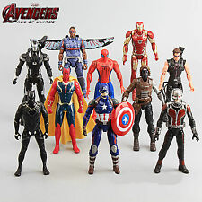 10 Pièces The Avengers Captain America Spiderman Iron-man Figurines D'action