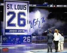 Martin St. Louis Tampa Bay Lightning Signed Autographed Retirement Ceremony 8x10