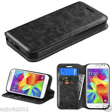 Samsung Galaxy Prevail LTE G360 Core Prime Folio Flip Pouch Case w/Stand Black