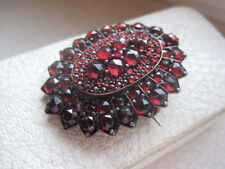 1880's-90's ANTIQUE VICTORIAN BOHEMIAN GARNET PHOTO LOCKET PENDANT or BROOCH