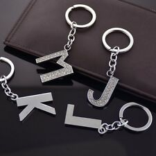 A-Z New Alphabet Crystal Letter Initial Key Ring Chain Car Keychain Bag Keyring
