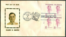1969 Philippines CLARO M. RECTO First Day Cover - B