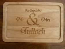 Personalised Wooden Chopping Board : Engraved Wedding & Anniversary Wood Gift