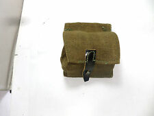 GENUINE ARMY WEBBING KHAKI CANVAS AMMO POUCH CARTRIDGE BAG