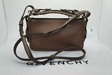 GIVENCHY Brown Leather Small Obsedia Crossbody Purse Handbag *MINT* $1,790