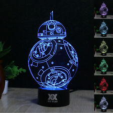 BB-8 33D LED illusion Night Light 7 Color Touch Table Desk Art Lamp room Gifts