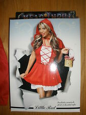 NEW WOMEN'S 3PC SEXY *LITTLE RED RIDING HOOD* HALLOWEEN COSTUME SIZE L/XL 12-18