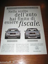 *AH35=MERCEDES-BENZ CLASSE E/C=PUBBLICITA'=ADVERTISING=WERBUNG=COUPURE=
