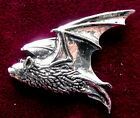 Superb Pewter Gothic Flying Pipestrelle Bat Brooch Pin