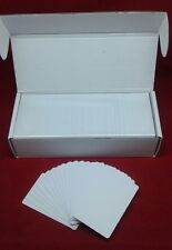 1000 CR80 30Mil White Blank PVC Plastic Cards for Photo ID card thermal printers