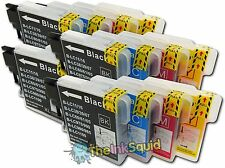 16 Compatible LC985 (LC39) Ink Cartridges for Brother DCP-J125 Printer