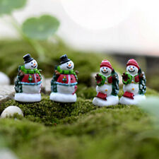 4x Mini Christmas Snowman Fairy Micro Garden Landscape Craft Dollhouse Decor RS