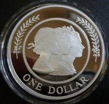 Australia 1oz .999 Fine Silver Proof 1 Dollar 1999 Majestic Images Elizabeth II