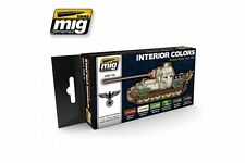 AMMO OF MIG A.MIG-7108 Acrylic Paint Set (6 jars) Interior Colors: German Tanks