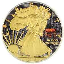 2015 American Silver Eagle Coin 1oz Ounce 999 Colorized Apocalypse Gold Gilded