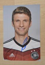 ORIGINAL Autogramm von Thomas Müller. pers. gesammelt. WELTMEISTER 2014. 20x30