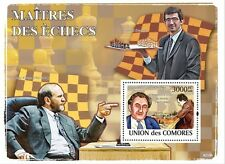 CHESS Fischer Kramnik Petrosian Comores Comoros m/s Sc.1064 MNH #CM8210b