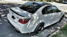 BMW E60 M5 5 SERIES CARBON FIBER SIDE SKIRT+REAR BUMPER SIDE LIP EXTENSIONS