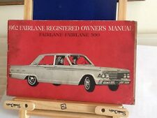 Owners manual 1962 Ford fairlane