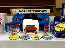 Ford Mustang Gift Set - Coaster Set, Napkin and Toothpick Holders, Salt & Pepper