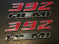 TWO NEW 392 HEMI FENDER EMBLEMS DODGE RAM CHARGER CHALLENGER CUDA (USA SELLER)